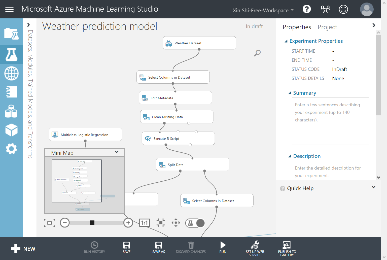 Weather forecast using Azure Machine Learning with data from IoT ...