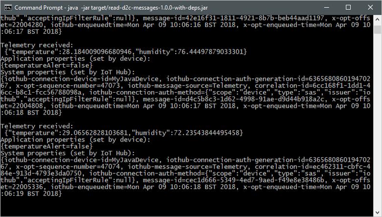 Quickstart: Send telemetry to Azure IoT Hub with Java   Microsoft Docs