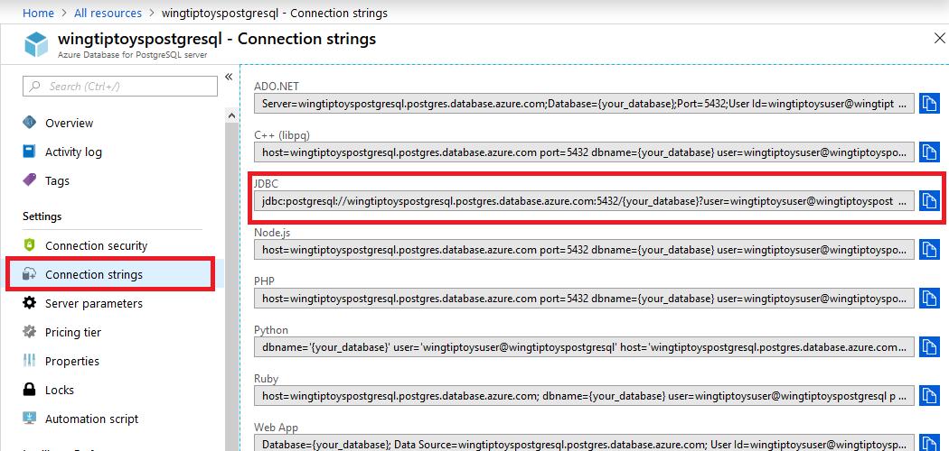 How to use Spring Data JDBC with Azure PostgreSQL