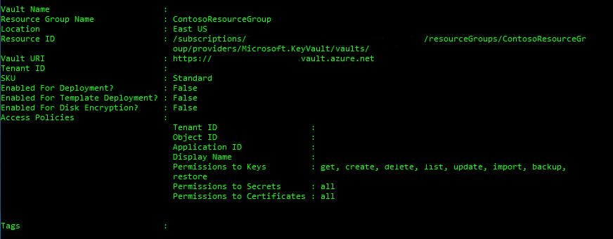 Azure Quickstart - Set & retrieve a secret from Key Vault