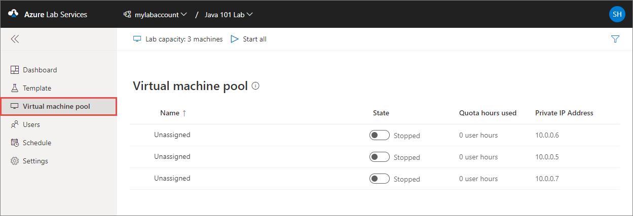 Set up a classroom lab using Azure Lab Services | Microsoft Docs