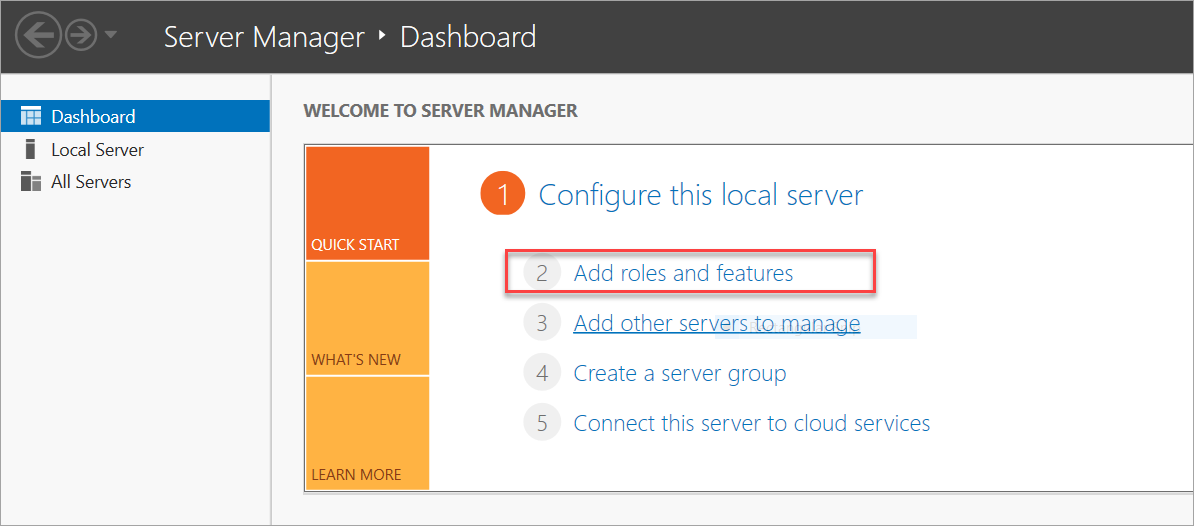 Adding server manager role