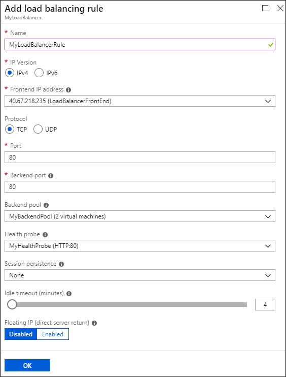 Tutorial: Configure port forwarding in Azure Load Balancer