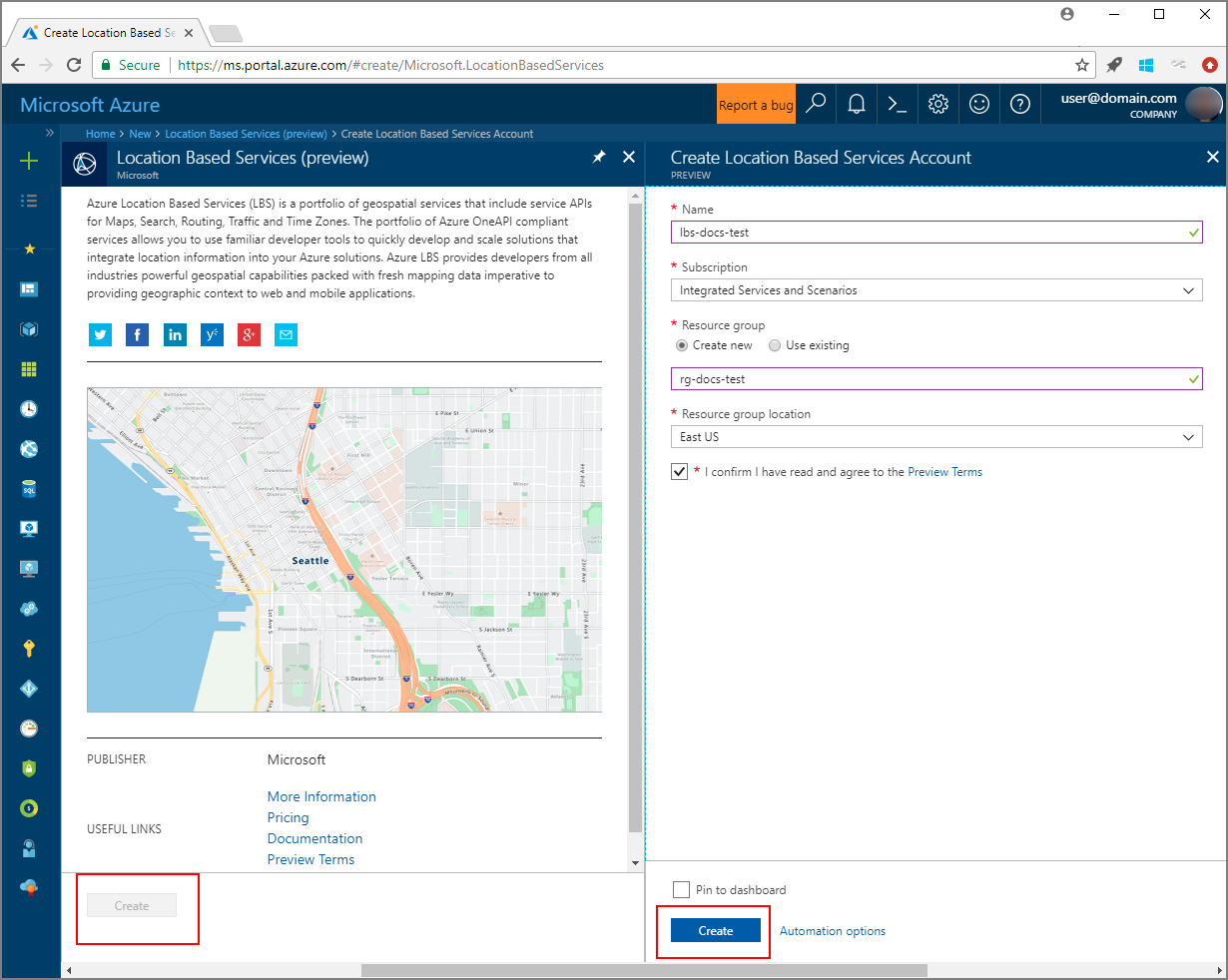 Interactive Map Search with Azure Location Based Services