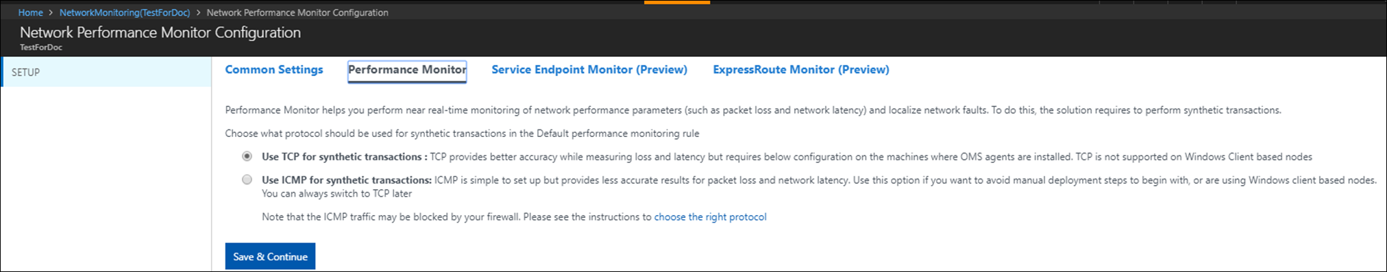 network performance monitor solution in azure  microsoft docs. performance monitor view