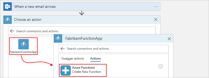 Add and call Azure functions from Azure Logic Apps