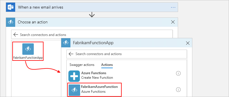 Add and call Azure functions from Azure Logic Apps | Microsoft Docs
