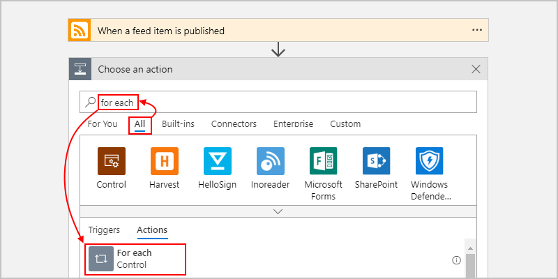 Add loops that repeat actions or process arrays - Azure Logic Apps
