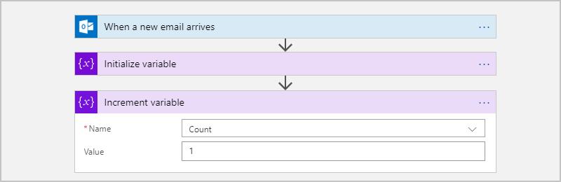 Create variables for saving values - Azure Logic Apps | Microsoft Docs