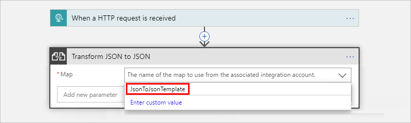 Convert json data with liquid transforms azure logic apps most likely your logic app is not linked to your integration account to link your logic app to the integration account that has the liquid template maxwellsz