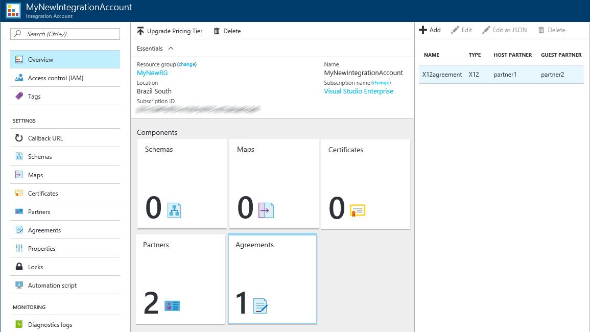 X12 messages for B2B enterprise integration - Azure Logic