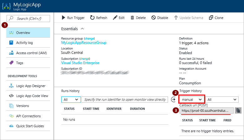 Call, trigger, or nest workflows with HTTP endpoints - Azure