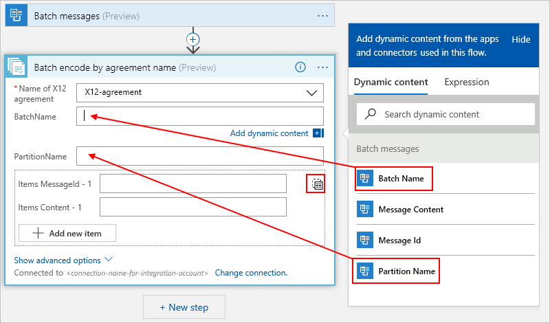 Batch process EDI messages as a group or collection - Azure Logic