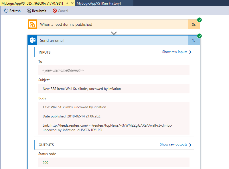 Manage logic apps by using Visual Studio - Azure Logic Apps
