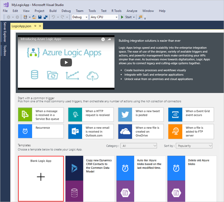 how to create an app with visual studio