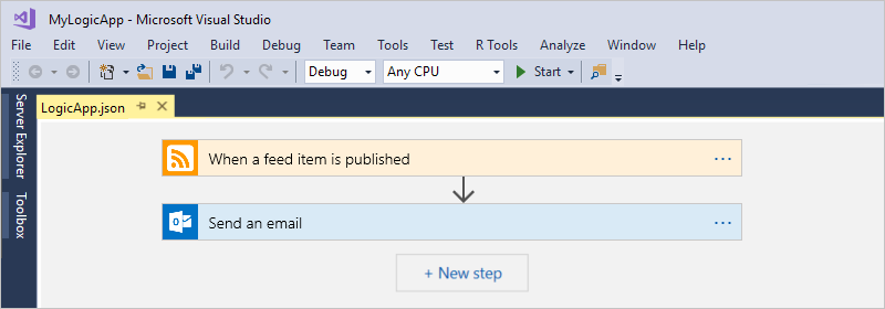 Create automated workflows with Visual Studio - Azure Logic