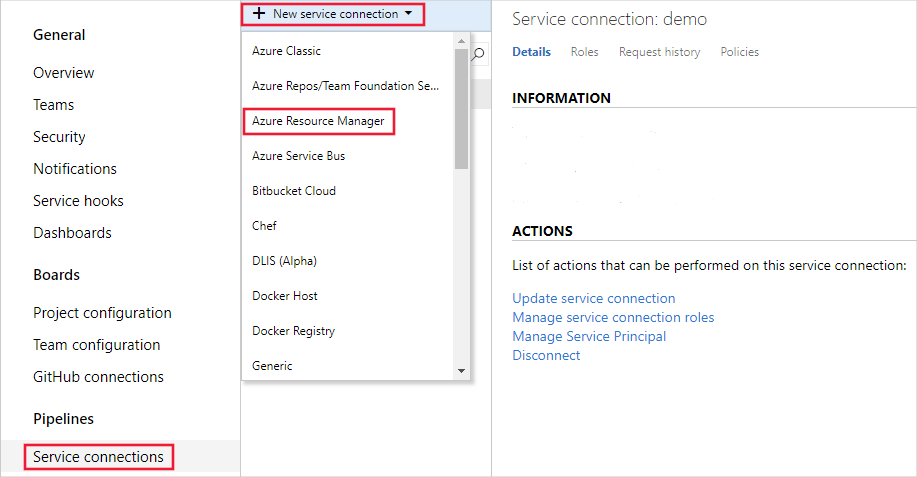 Select Azure Resource Manager
