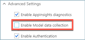 Uncheck Data Collection