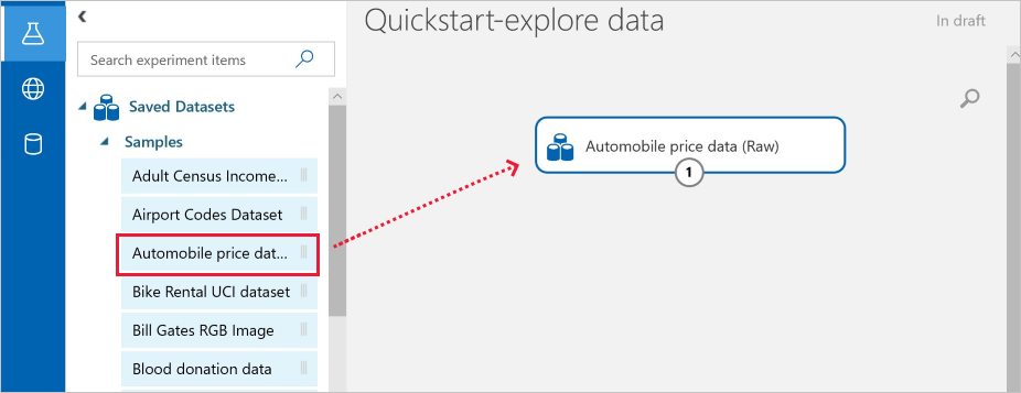 Tutorial: Predict automobile price with the visual interface - Azure