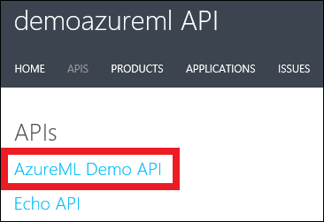 Manage web services using API Management - Azure Machine