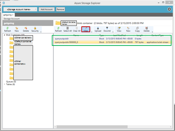 Create Hive tables and load data from Blob storage - Team