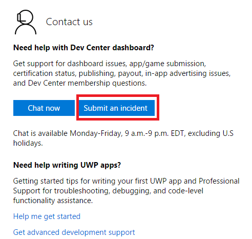 Windows phone dev center validating your account