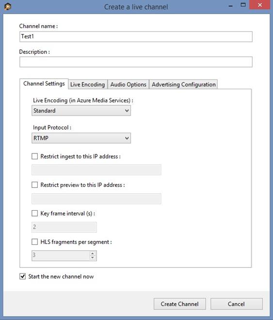 Configure the NewTek TriCaster encoder to send a single