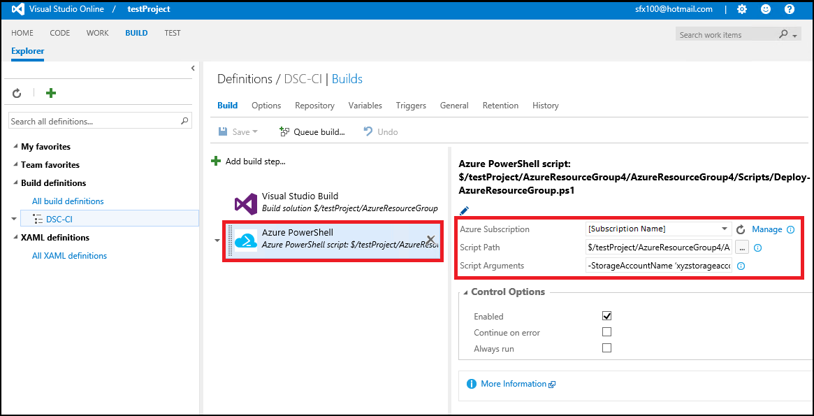 Deploy Build From Team Service To Azure