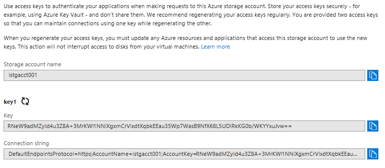 azure blob storage emulator connection string