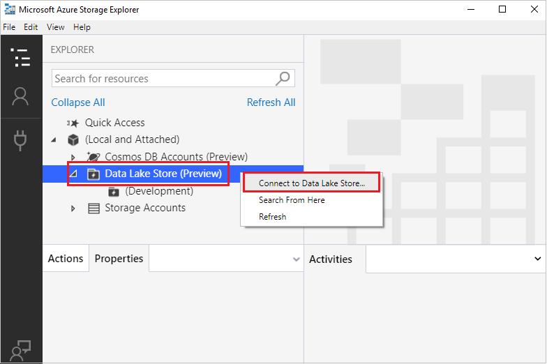 Get started with Storage Explorer | Microsoft Docs