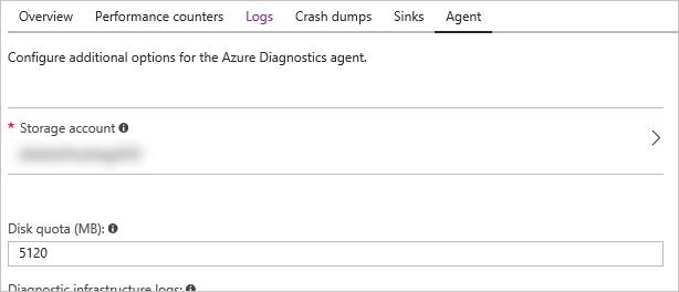Update storage account