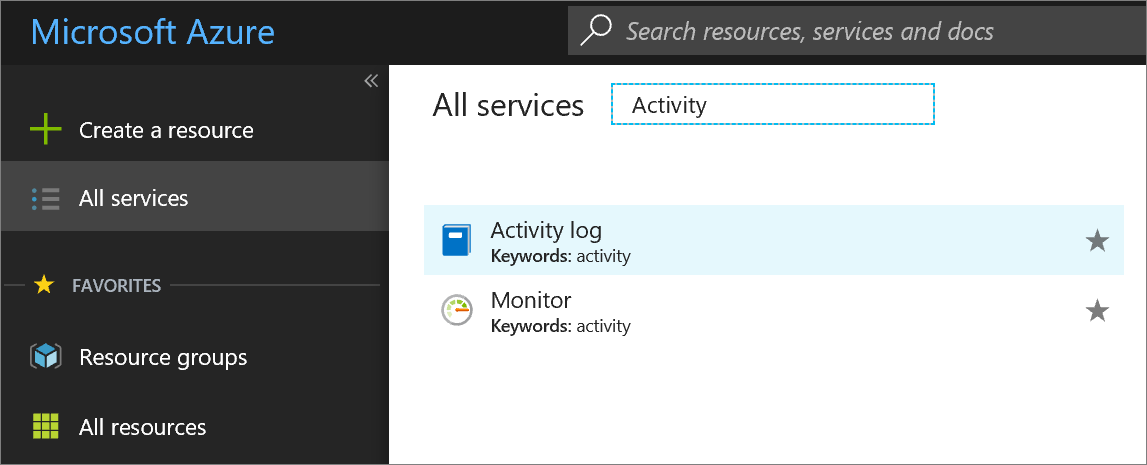 Archive the Azure Activity Log | Microsoft Docs