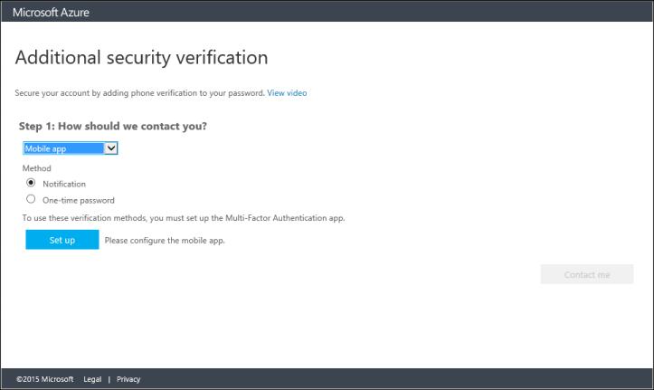 Set up two-step verification