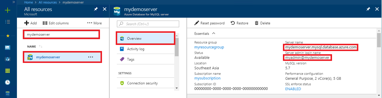 Migrate your MySQL database using dump and restore in Azure