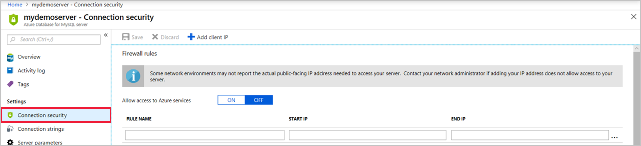 Connect existing Azure App Service to Azure Database for