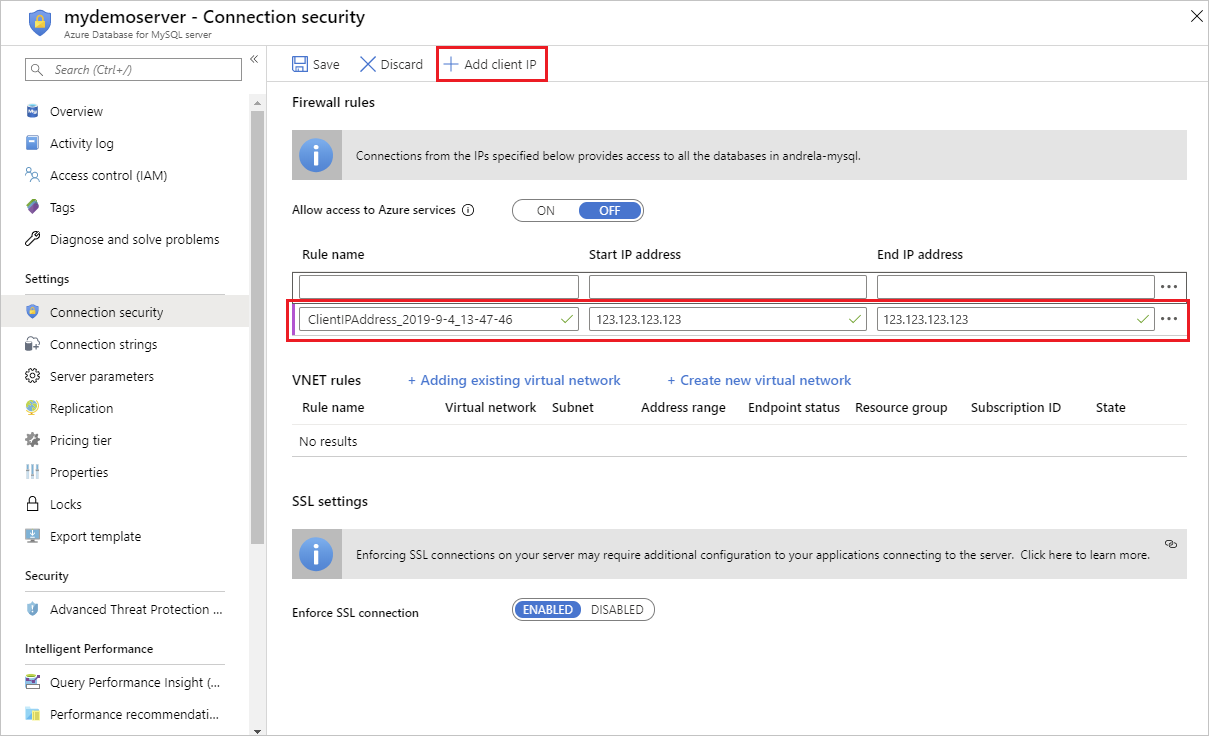 Create and manage MySQL firewall rules in Azure Database for
