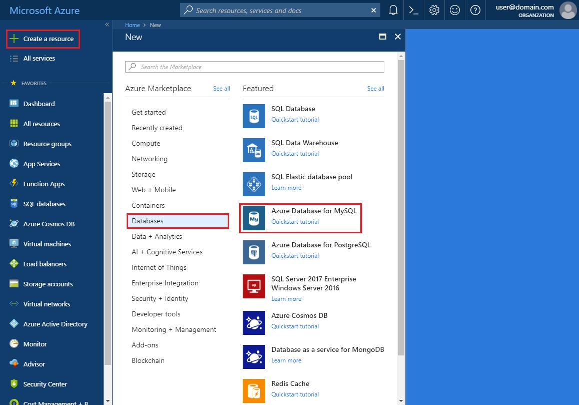Quickstart: Create Azure Database for MySQL server - Azure portal