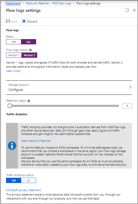 Log network traffic flow to and from a VM - tutorial - Azure