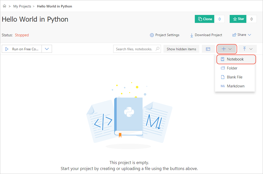 Create and share a Jupyter notebook on Azure   Microsoft Docs