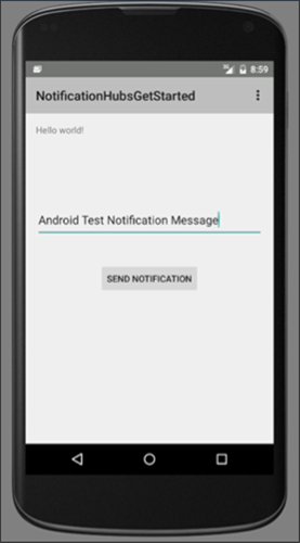 Push notifications to Android apps using Azure Notification