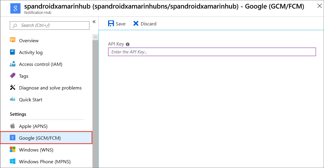 Push notifications to Android apps using Azure Notification Hubs and