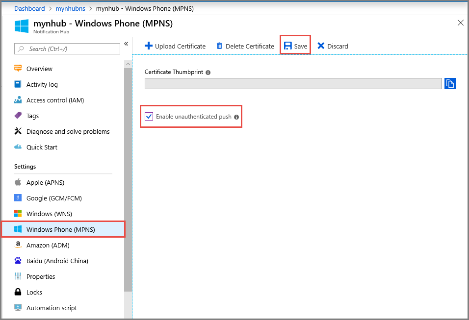 Push notifications to Windows Phone apps using Azure