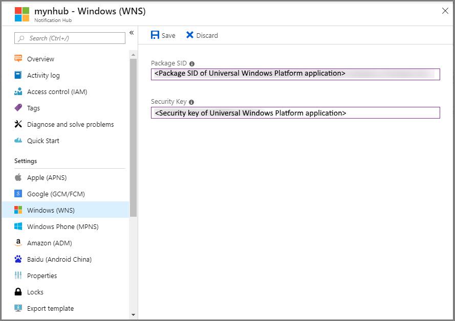 Set up push notifications in Azure Notification Hubs