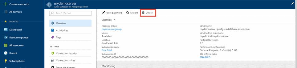 Quickstart - Create an Azure Database for PostgreSQL