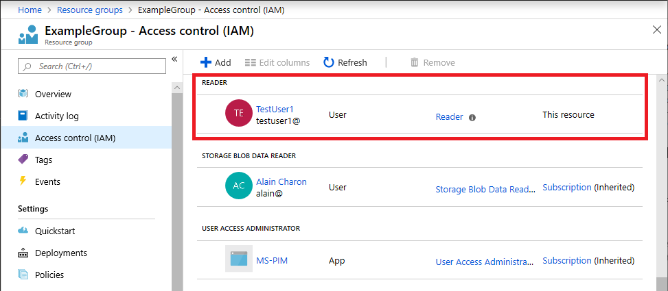Manage access to Azure resources using RBAC and Azure Resource