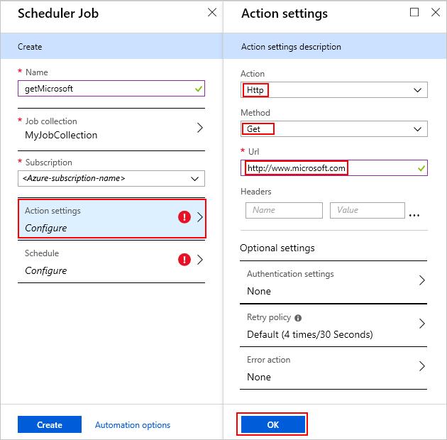 Create scheduled jobs with Azure Scheduler - Azure portal
