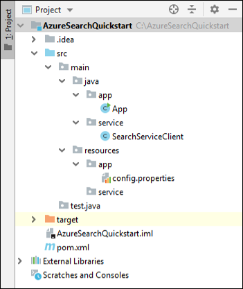 Java Quickstart: Create, load, and query indexes in Java