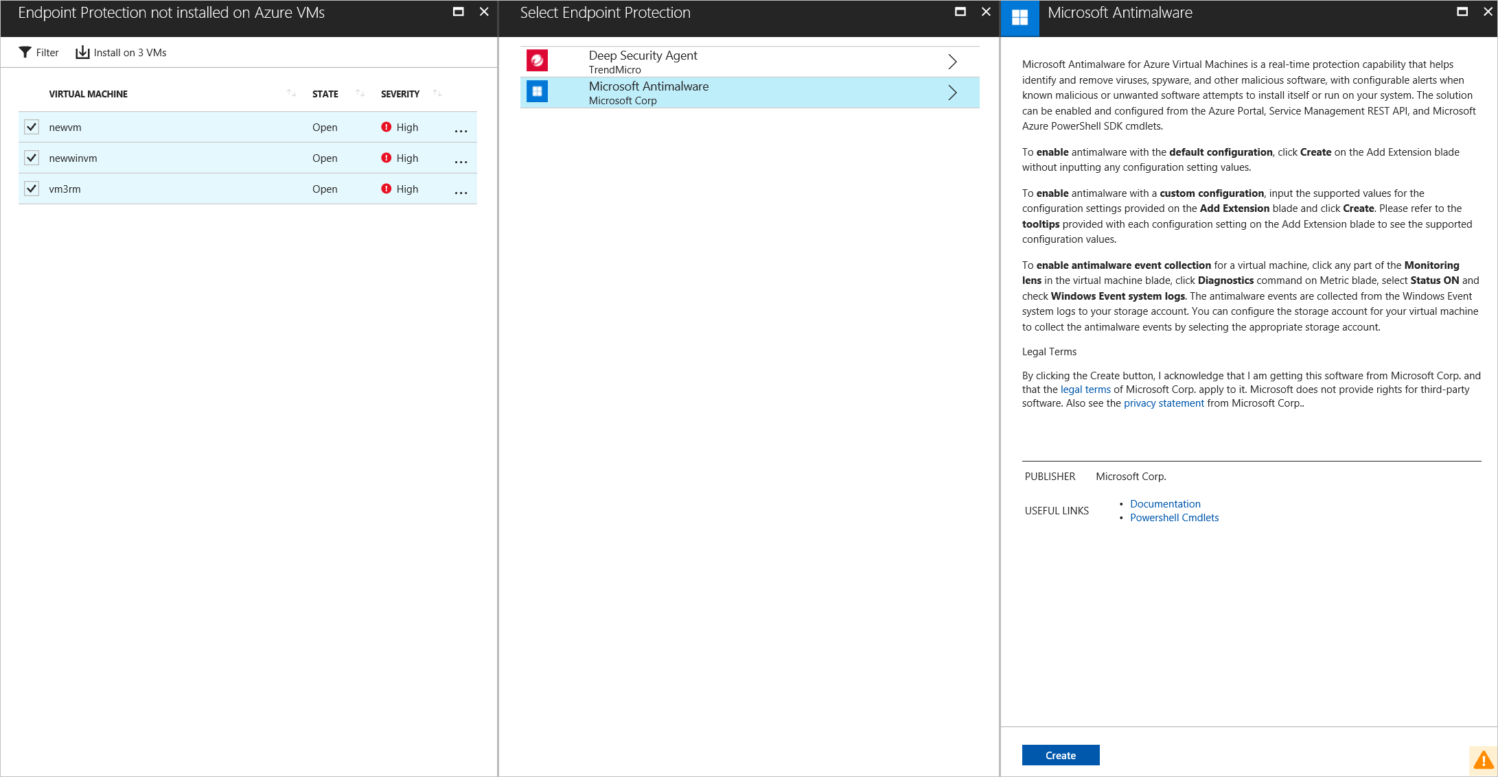 Manage endpoint protection issues with Azure Security Center