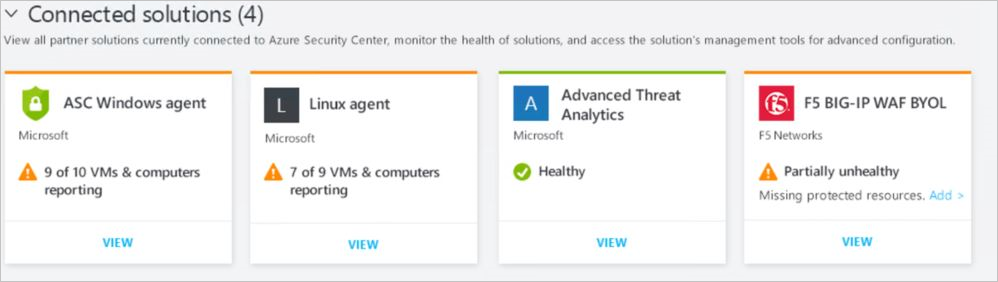 Integrate security solutions in Azure Security Center