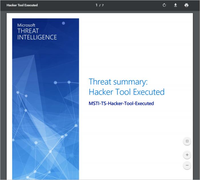 Azure Security Center threat intelligence report | Microsoft